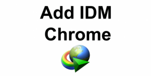 add IDM extension to chrome - IDM integration module