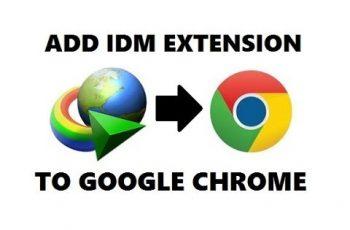 Add IDM extention to chrome - IDM integration module
