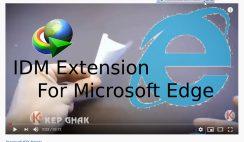add IDM extension to microsoft edge